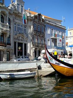 Art Nouveau townhouses, Moliceiros, Ovos Moles and much, much more.............Aveiro! Portugal...