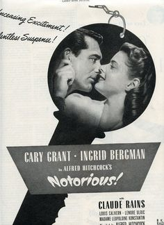 1940s Movie Ad for Hitchcock Film Notorious by DustyDiggerLise, $8.00