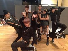 You know why I like Bangtan?  Because this is a thing they do when someone wants to take their picture.