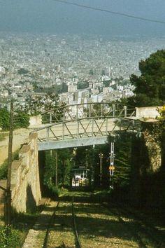 El Tram Blau, the funicular to Tibidabo hill, Barcelona