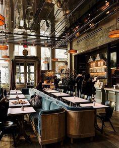 New Ideas For Kitchen Design Restaurant New York Restaurant Bar, Restaurant Lighting, Restaurant Concept, Restaurant Interior Design, Cafe Interior, Restaurant Interiors, Interior Ideas, Fixer Upper, New York Restaurants