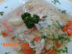 Bohatá kuracia polievka - Recept Meat, Chicken, Food, Beef, Meal, Essen, Hoods, Meals, Eten