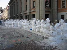 ❄❅⛄☃ ~ Snowmen waiting in line