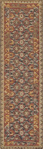 Momeni Rugs TANGITAN-7RED2030 Tangier Collection, 100% Wool Hand Tufted Tip Sheared Transitional Area Rug, 2' x 3', Red