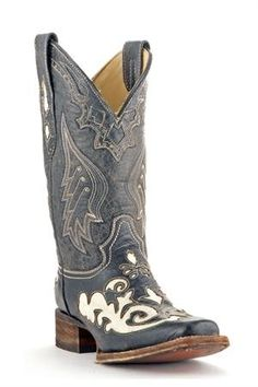 Women's Corral Boots Bone Lizard Inlay Square Toe Cowgirl Boots