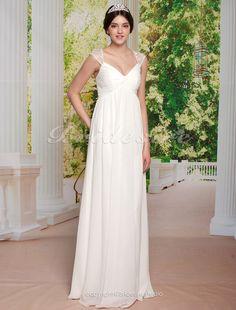 The Green Guide - Sheath/Column ChiffonFloor-length V-neckWedding Dress [310543] - US$119.99 : The Green Guide