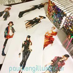 Fashion Design & Illustration by @paulkengillustrator