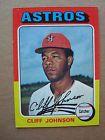 1975 Cliff Johnson Topps Baseball Card # 143 Houston Astros