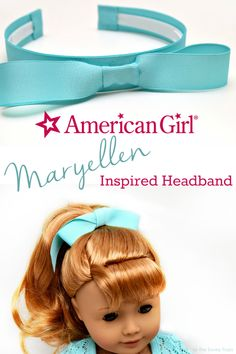 American Girl Maryellen Inspired Headband!  Make a fun '50s inspired headband with just a few supplies. It's the perfect match for the new American Girl doll Maryellen Larkin!