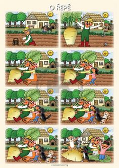 Poprokan.cz Sequencing Pictures, Sequencing Cards, Story Sequencing, Sequencing Activities, Activities For Kids, Picture Story For Kids, Number Writing Practice, Picture Comprehension, Fairy Tale Activities