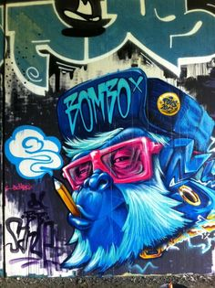 """Sanue from Italy. - """"Give me a wall and one spray paint can and I will move the world"""" - Elcodigodebarras Music Graffiti, Urban Graffiti, Street Art Graffiti, Urban Street Art, Urban Art, Friday The 13th Poster, Spray Can Art, Graffiti Characters, Murals Street Art"""