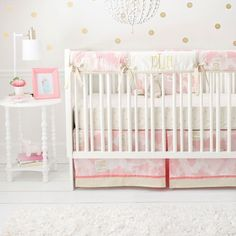 You Are Magic in Pink Crib Baby Bedding Set  #jackandjillboutique #pink #love #gold #mommytobe #boldbedding #pregnant #designer #daybed #paris