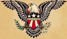 Sailor jerry army tattoo Eagle tattoo Old style Sailor Jerry Flash, Navy Tattoos, Eagle Tattoos, Arabic Tattoos, Nautical Tattoos, Celtic Tattoos, Wolf Tattoos, Animal Tattoos, Flash Art