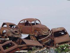 ... rusty cars ...