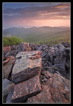 Blackrock Summit Sunrise, Shenandoah National Park, Virginia