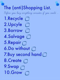 The anti shopping list, shopping  The BEST shopping list for a thrifty family and great money saving advice