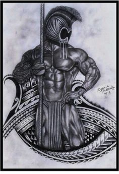 Tribal hawaiian warrior helmet. | Tattoos | Pinterest ...
