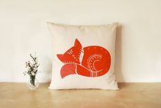 Hey, I found this really awesome Etsy listing at http://www.etsy.com/listing/127358120/handprinted-fyn-the-fox-cushion-cover-in