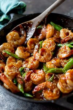 30 minute shrimp teriyaki on sallysbakingaddiction.com