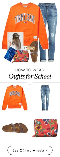 """school"" by whitpit on Polyvore featuring KUT from the Kloth, Tommy Hilfiger, Vera Bradley and Birkenstock"