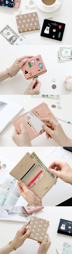 Super cute! Our favorite Ghost Pop characters are back again in the Ghost Pop Slim Zipper Wallet! This compact wallet has everything you need to stay organized with 6 card slots, 1 expandable zippered coin pouch, and a bill compartment big enough for US Dollars. A snap button keeps the wallet closed and secure! If you're looking for an easy grab 'n go accessory, this is it! Stay stylish with this wallet that's perfect for travel, running errands, or everyday use.