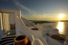 sunset, Santorini