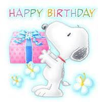 Happy Birthday with Snoopy - Happy Birthday Wishes Cards, Cute Happy Birthday, Happy Birthday Pictures, Birthday Greeting Cards, Snoopy Feliz, Happy Snoopy, Snoopy Birthday, Birthday Clips, Happy Birthday Wallpaper
