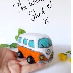 Mini Needle Felt Camper van kit :) #campervan #camper #crafts #needlefelt #felted #handmadewithlove #thewishingshed #summertimeshine #summer #uniquetoys #kit #volkswagen #vw❤️ #vw #vintagecar #vintage #toy #camping