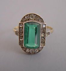 Rings, Victorian & Edwardian - Morning Glory Jewelry & Antiques Antique Rings, Vintage Rings, Antique Jewelry, Vintage Jewelry, Emerald Ring Vintage, Emerald Rings, Emerald Jewelry, Diamond Rings, Gold Band Ring