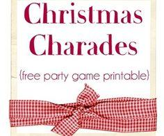 Christmas Charades {free party game printable} | Home Decor News
