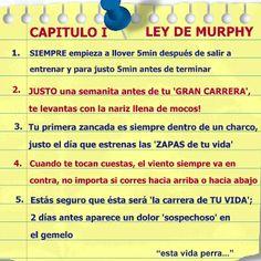 Las leyes de Murphy... En el running también existen!!!