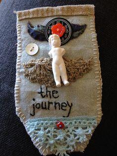 """hanstitched Pinnie, """"The Journey"""""""