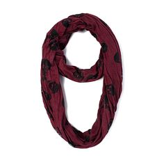 I love the Steve Madden Skull Burn Out Scarf from LittleBlackBag
