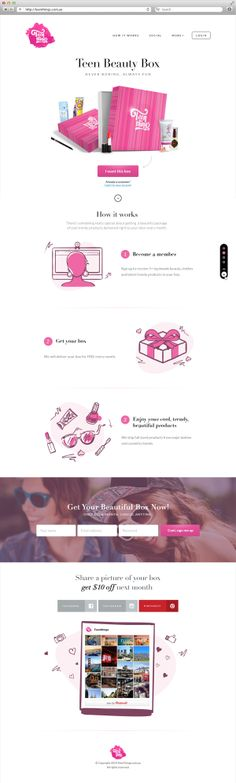 TeenThings - Landing page by Alex Gilev, via Behance
