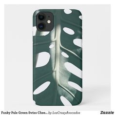 Funky Pale Green Swiss Cheese Plant Case-Mate iPhone Case