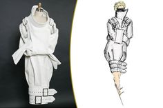 Dress was actually for Lady Gaga, but I'm gathering some Strait jacket designs for Champion.