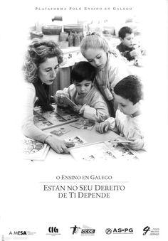[Plataforma pola Ensino en Galego, 1995] Cgi, Movie Posters, Teaching, Nail, Santiago De Compostela, Wedges, Film Poster, Popcorn Posters, Film Posters