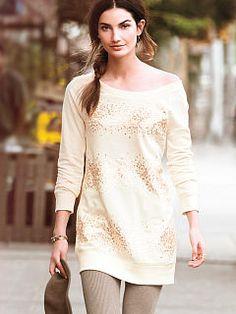 Women's Hoodies & Sweatshirts: Designer Fleece & Terry Zip Hoodies & Pullovers at Victoria's Secret