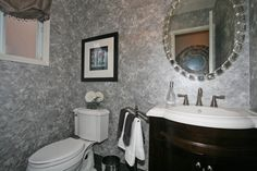 powder room Glam Room, Glitz And Glam, Powder Room, Double Vanity, Contemporary, Mirror, Bathrooms, House, Furniture