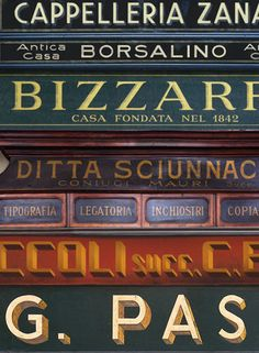 Italian typography: Interview with Louise Fili about her book Grafica Della Strada - Swide Louise Fili, Italian Logo, Vintage Italian Posters, Coffee Shop Logo, Signwriting, Vintage Italy, Types Of Lettering, Restaurant Branding, Vintage Lettering
