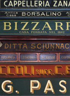 Italian typography: Interview with Louise Fili about her book Grafica Della Strada - Swide