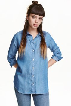 Lyocell denim shirt | H&M