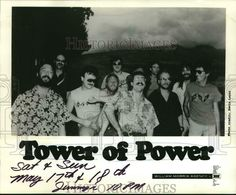 1986 Press Photo Members of Tower of Power, American R&B band. War Band, American Legion Post, Tower Of Power, Power Photos, Christian Rock Bands, Italian Army, Photo Dimensions, Blues Rock, Press Photo