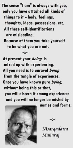 Once you have known pure being . you will no longer be misled by names and forms ~ Nisargadatta Maharaj Spiritual Awakening Quotes, Spiritual Wisdom, Spiritual Growth, Wealth Affirmations, Self Realization, S Quote, Osho, Spiritual Inspiration, Ramana Maharshi