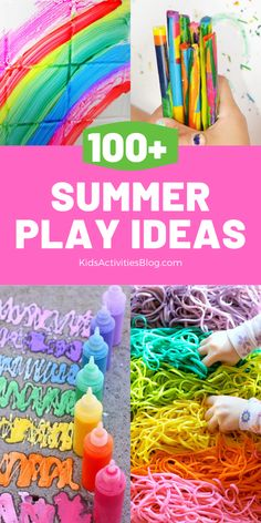 100+ summer ideas to get kids active and break through boredom! Screen-free fun with activities for children of all ages. Play inside or head outdoors into the sunshine to complete the ultimate summer bucket list!