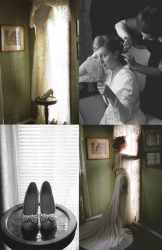 Vintage inspired modest wedding dress.