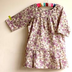 O+S picnic dress with drop waist pleated skirt