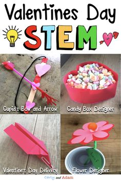 INTEGRATE STEM IN YOUR CLASSROOM THIS VALENTINES DAY!  Students love completing these Valentine's Day STEM activities! This bundle contains four STEM activities for Valentine's Day: Cupid's Bow and Arrow, Design a Candy Box, Valentine Flower Design, and Valentine Air Mail. #valentinesdaystemactivities #stemactivities #tpt #teacherspayteachers