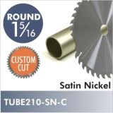 "Satin Nickel 1-5/16"" Diameter Rod, CUSTOM CUT. Starting at $8.75"
