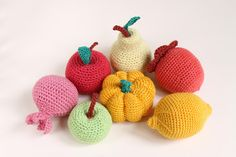 Crochet fruits Crochet Vegetables play food by KnittingWithSoul